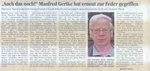 Seesener Beobachter 13.08.2012: 'Auch das noch!' Manfred Gerike hat erneut zur Feder gegriffen